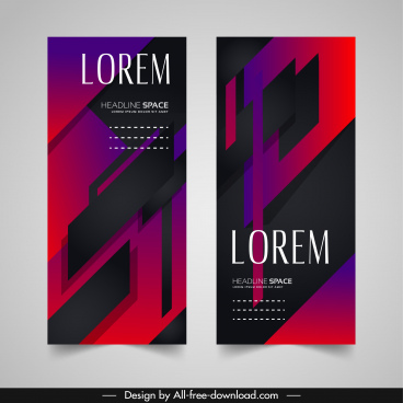 leaflet templates modern elegant dark decor abstract design