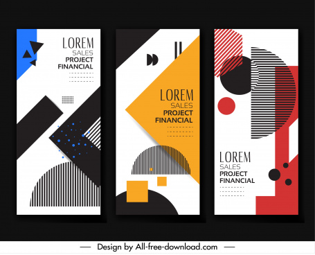 leaflet templates modern geometric decor colorful flat design