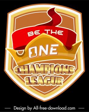 league championship logotype modern dynamic shield crown sketch