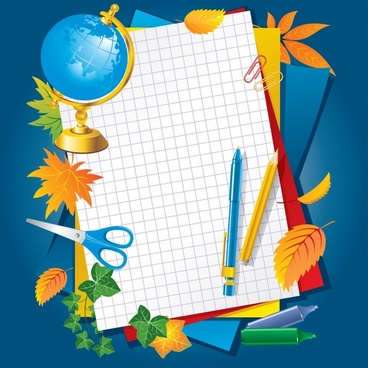 learning stationery vector