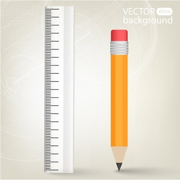 education background template modern flat ruller pencil sketch