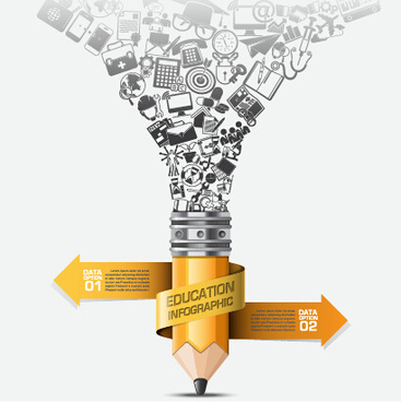 learning with education infographic elements vector