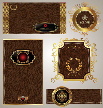 leather label free vector