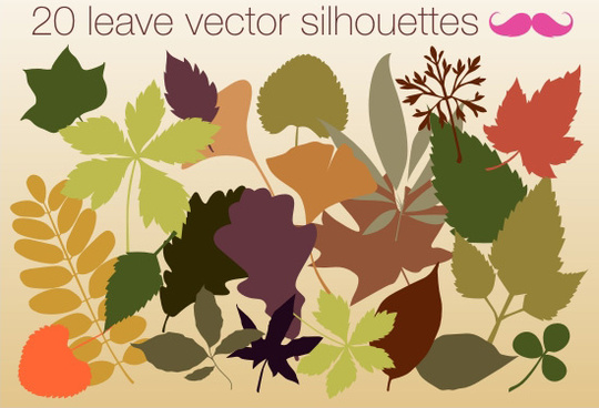 leave vector silhouettes