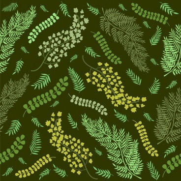 leaves backdrop dark green design