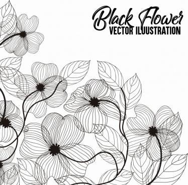 leaves background black white handdrawn sketch