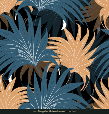 leaves background colored classic decor luxuriant design