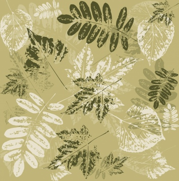 leaves background grunge decoration classical print design