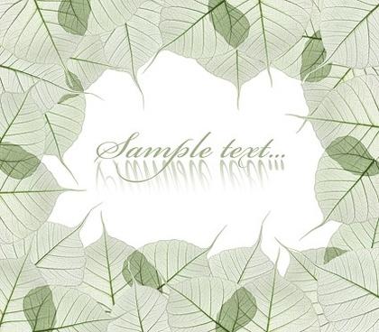 leaves decorative edge models picture