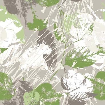 leaves grunge pattern seamless vectors