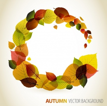 autumn background template colorful dynamic leaves layout