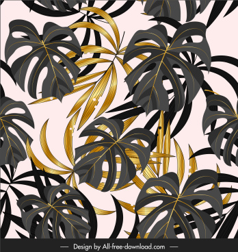 leaves painting colored classical luxuriant design