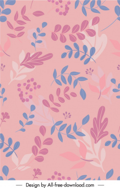 leaves pattern template elegant classical decor