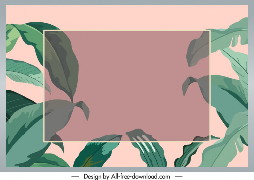 leaves text box background green blurred classic design