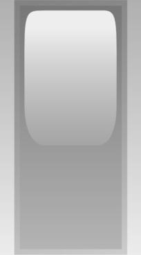 Led Rectangular V (grey) clip art
