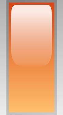 Led Rectangular V (orange) clip art