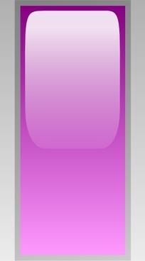 Led Rectangular V (purple) clip art
