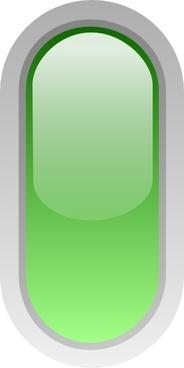 Led Rounded V (green) clip art