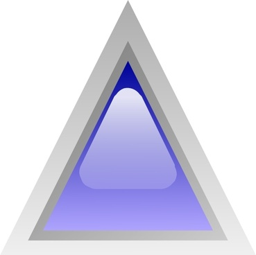 Led Triangular 1 (blue) clip art