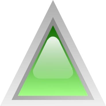 Led Triangular 1 (green) clip art