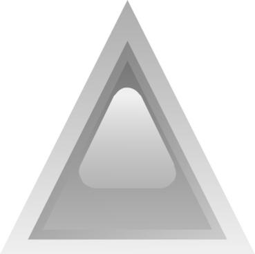 Led Triangular 1 (grey) clip art