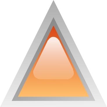 Led Triangular 1 (orange) clip art