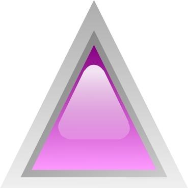 Led Triangular 1 (purple) clip art