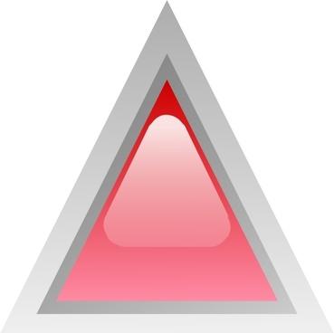 Led Triangular 1 (red) clip art