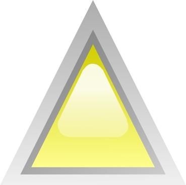 Led Triangular 1 (yellow) clip art