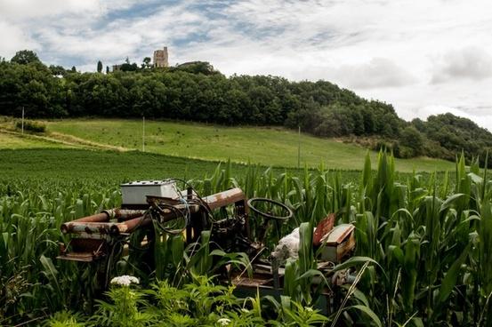 left behind tractor