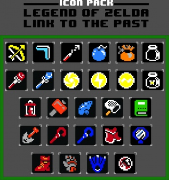 legend of zelda link to the past icon pack