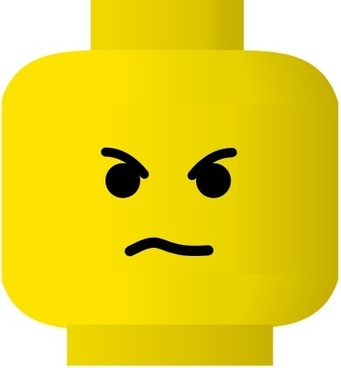 Lego Smile Angry clip art