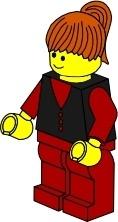 Lego Town Businesswoman clip art