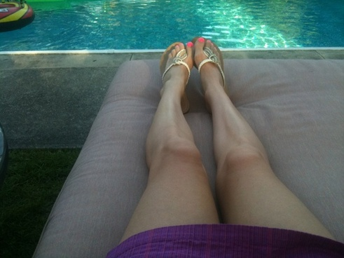 legs by the pool