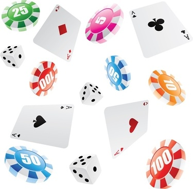 leisure and gaming gambling vector