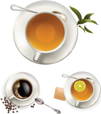 leisure coffee and tea vector