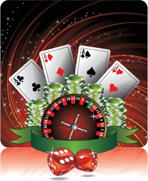 gambling background template shiny sparkling elements decor