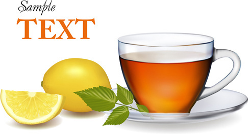 lemon and tea vector