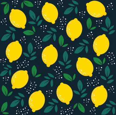 lemon background repeating flat decoration