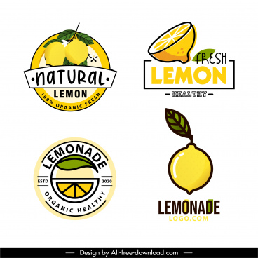 lemon fruit labels templates bright yellow green decor