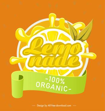 lemon juice label yellow slice liquid splash decor