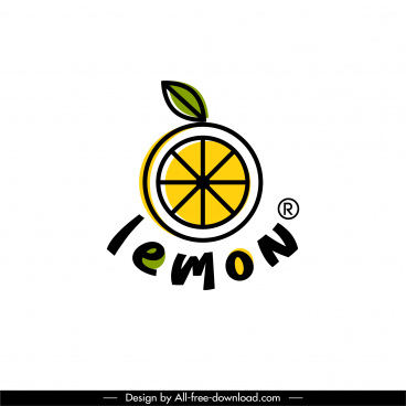 lemon logotype flat classic slice sketch