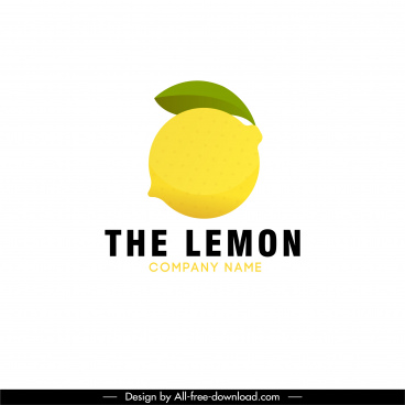 lemon logotype shiny yellow green flat decor