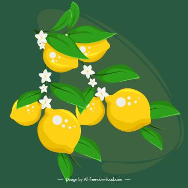 lemon painting bright colorful handdrawn design
