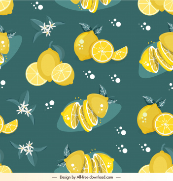 lemon pattern template colored classic repeating decor