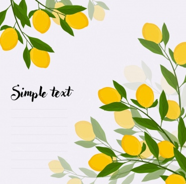 lemon tree background yellow green decoration