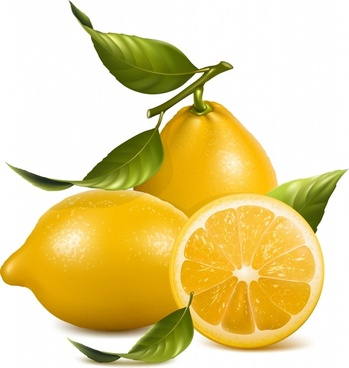 lemon background bright shiny 3d realistic design
