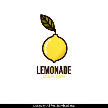 lemonade logo template flat yellow green sketch