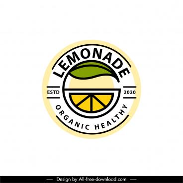 lemonade logotype colored flat design slice sketch
