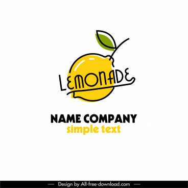 lemonade logotype colored flat handdrawn sketch